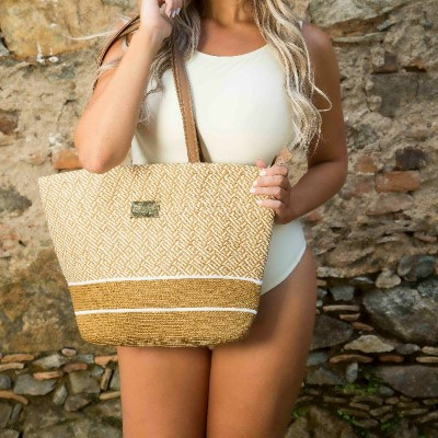Bolsa Dream'S Beach Summer Fibra Natural Caramelo