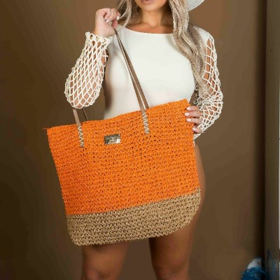 Bolsa Dream'S Beach Summer Fibra Natural Laranja