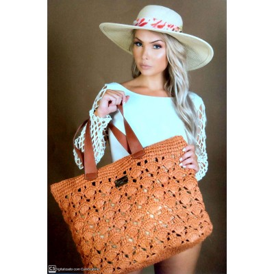 Bolsa Dream's Beach Summer Fibra Natural Ocre